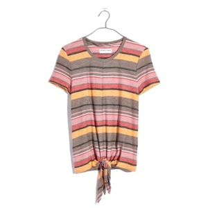 Madewell Modern Tie-Front Striped Top